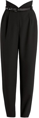 Giorgio Armani Gabardine High-Waisted Trousers