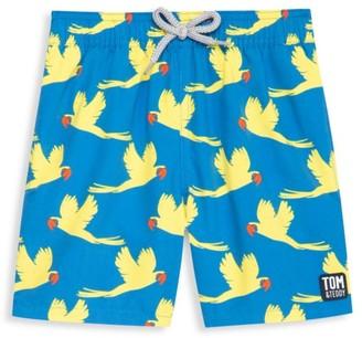 Tom & Teddy Baby's, Little Boy's & Boy's Parrot Swim Trunks