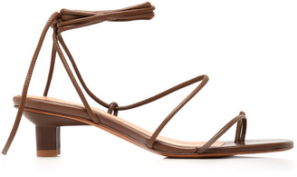 LOQ Women's Roma Leather Lace-Up Sandals - Brown/orange - Moda Operandi