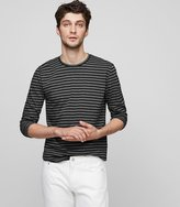 Reiss Sidney - Cotton Stripe T-shirt in Black, Mens