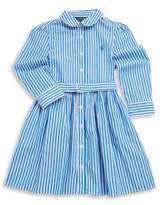 Ralph Lauren Toddler's, Little Girl's & Girl's Bengal Striped Fit-&-Flare Dress