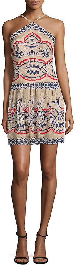 BCBGMAXAZRIA Fleur Halter Dress