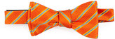 Ted Baker Candy Stripe Silk Bow Tie, Orange
