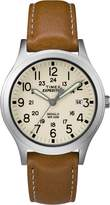 Timex Women's Casual Expedition Mid-Size Scout TW4B11000GP Natural Dial and Tan Leather Band Watch