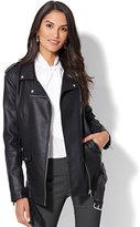 New York & Co. Oversized Belted Moto Jacket