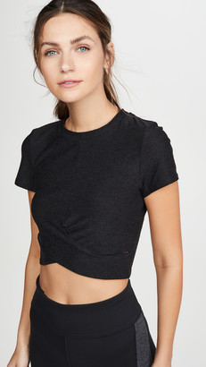 Beyond Yoga Under Over Lightweight Cropped Tee