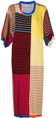 Maison Flaneur Knitted Colour Block Dress