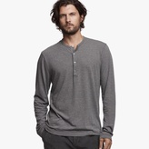 James Perse Cotton Linen Melange Henley
