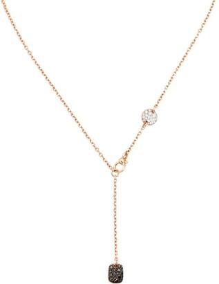 Pomellato Sabbia 18K Rose Gold & Tri-Color Diamond Lariat Necklace