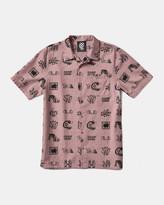 Vans x Brain Dead Short Sleeve Woven Shirt (Pink)
