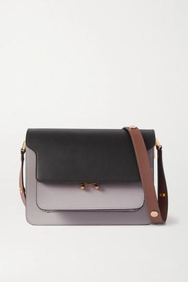 Marni Trunk Medium Color-block Leather Shoulder Bag - Black
