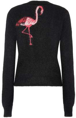 Saint Laurent Flamingo mohair-blend sweater