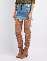 Charlotte Russe Ruched Over-The-Knee Boots