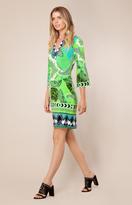 Hale Bob Hailey Jersey Dress In Lime