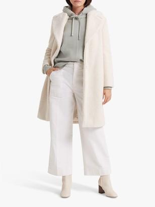 Club Monaco Ohren Faux Fur Coat, Ivory