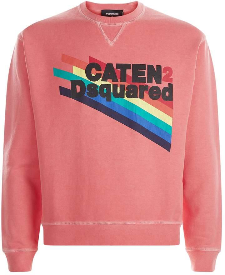 DSQUARED2 Rainbow Logo Sweater