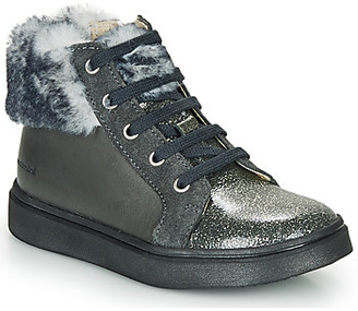 Catimini MARCELLE girls's Shoes (High-top Trainers) in Grey