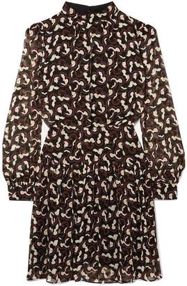 Saloni Isabel B Printed Silk-georgette Mini Dress