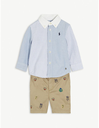 Ralph Lauren Harbor Island cotton shirt and shorts set 6-24 months