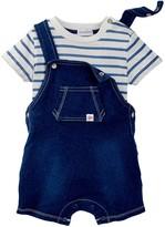 Absorba Stripe Tee & Shortall Set (Baby Boys)