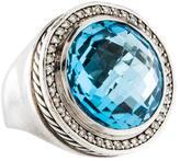 David Yurman Topaz & Diamond Cocktail Ring