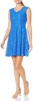 Thumbnail for your product : Ellen Tracy Women's Lace Fit and Flare Dress