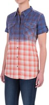 Gramicci Foula Dip-Dyed Plaid Shirt - Short Sleeve (For Women)