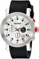 Redline Red Line Men's RL-18101VD-02 Compressor Chronograph Dial Black Silicone Watch