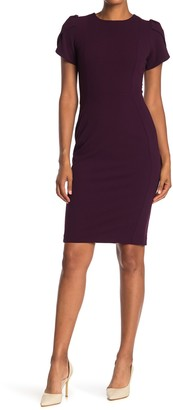 Calvin Klein Tulip Sleeve Sheath Dress