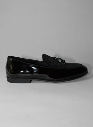 Topman Black Velvet 'Arlo' Velvet Loafers