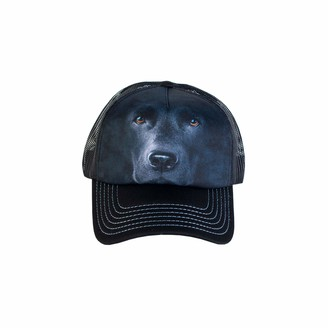 The Mountain Men's Black Lab Face Foam Trucker Hat Adjustable