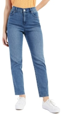 Style&Co. Style & Co Petite Straight-Leg Denim Ankle Jeans, Created for Macy's