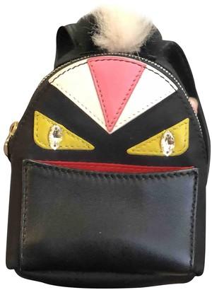 Fendi Black Leather Bag charms