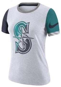 Nike Women's Seattle Mariners Slub Logo Crew T-Shirt