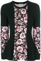 Kenzo floral panel sweater