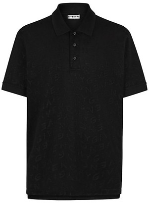 Givenchy Jacquard Refracted Logo Polo