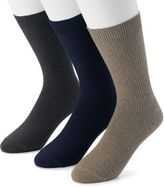 Dockers Men's 3-pack Lightweight Ribbed Crew Socks