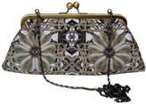 Burton Emma Elastic Pearl Digital Print Large Silk Handbag