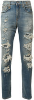 R 13 ripped skinny jeans - men - Cotton/Spandex/Elastane - 34
