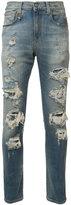 R 13 ripped skinny jeans - men - Cotton/Spandex/Elastane - 34