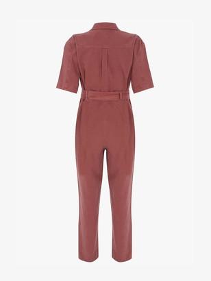 Mint Velvet Cotton Twill Jumpsuit - Pink