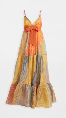 Silvia Tcherassi Tomasa Gingham Print Gown