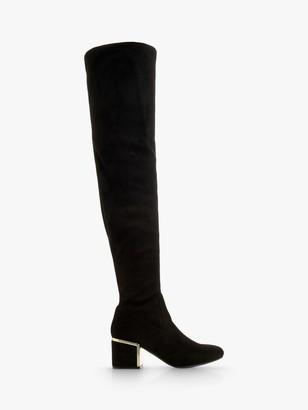 Head Over Heels Selinaa Over The Knee Heeled Boots, Black
