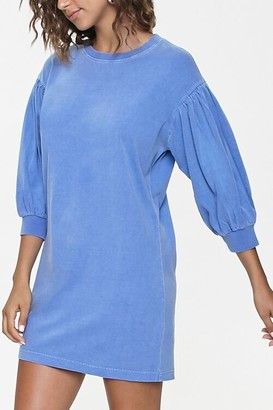 Forever 21 Peasant-Sleeve Mini Dress
