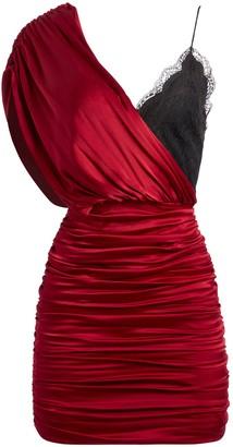 Alice + Olivia Bianca Lace Fitted Mini Dress