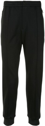 Solid Homme High-Waisted Track Trousers