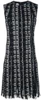 Oscar de la Renta embroidered fringe mini dress