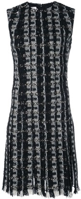 Oscar de la Renta Embroidered Fringe Mini Dress