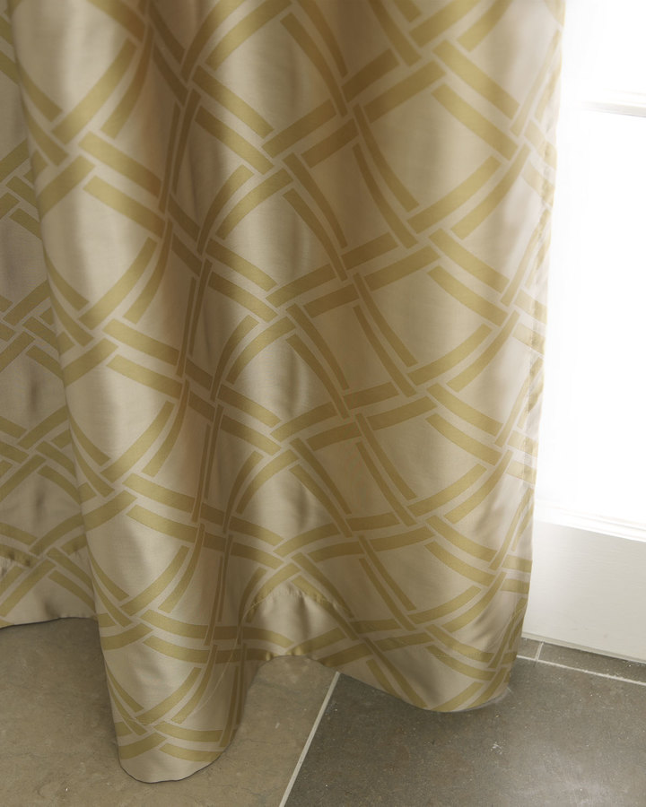"Horchow ""Grid"" Curtains"