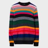 Paul Smith Men's Merino-Mohair Blend 'Rainbow' Stripe Sweater